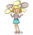 Girl with empty callouts vector image vector image