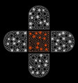 glowing mesh network plaster with light spots vector image vector image