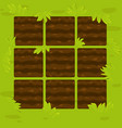 green garden beds in framework for game ui