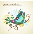 Greeting card with bird vector image