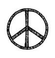 hippie symbol made brush strokes vector image