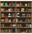 Home library flat vector image vector image