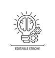 idea generation linear icon vector image