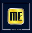 initial me letter logo template design vector image