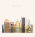jackson state mississippi skyline vector image vector image