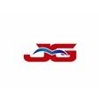 jG letter logo vector image vector image
