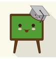 Kawaii cartoon icon School design graphic vector image