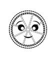 kawaii lemon vector image