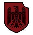 knight heraldic emblem german heraldic shield vector image