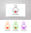 love care sign identity vector image