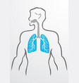 Lungs and human body vector image vector image