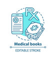 medical books concept icon health treatment vector image vector image