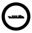 merchant ship icon black color in circle vector image vector image