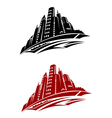 Modern city buildings vector image