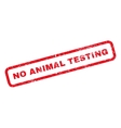 No Animal Testing Rubber Stamp vector image