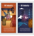 Oil Industry Banners vector image vector image