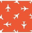 Orange plane pattern vector image vector image