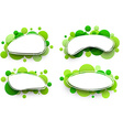 Oval backgrounds with green bubbles vector image vector image