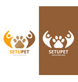 paw and people logo combination pet and vector image vector image