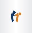 Policeman arrest criminal icon logo