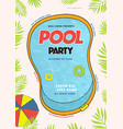 pool party poster summer event festival vector image vector image