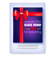 poster for ads of black friday sale special offer vector image vector image