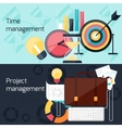 Project and time management flat design concept vector image vector image