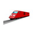 Red Train Front View vector image vector image