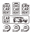 Rental Car repair wash Logo Template Design vector image vector image