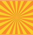 retro orange background ray stylish vector image vector image