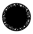round frame with an ornament festive shiny stars vector image