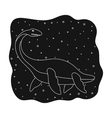 Sea dinosaur icon in black style isolated on white vector image vector image