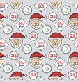 seamless christmas pattern new year decoration vector image