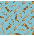 Seamless Pattern with Tools vector image vector image
