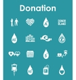 Set of donation simple icons vector image