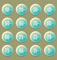 set of vintage logos badges and labels vector image vector image
