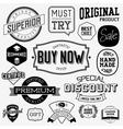 set vintage bagdes labels and stamps vector image