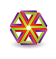 Six penrose triangles shaped like star vector image vector image