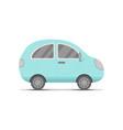 small blue car transport flat cartoon cute vector image