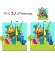Spot the differences Two images with ten changes vector image vector image
