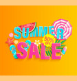 summer 2020 hot sale banner vector image vector image