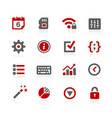 system setings interface icons