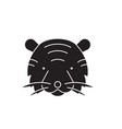 tiger head black concept icon tiger head vector image vector image
