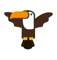 toucan bird brazilian icon vector image vector image