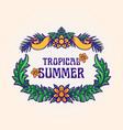 tropical summer frame leaf vector image vector image