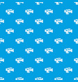 tv camera pattern seamless blue vector image vector image