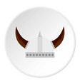 viking helmet icon circle vector image vector image