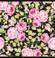 vintage seamless floral pattern with pink roses vector image vector image