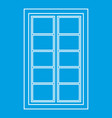 wooden latticed window icon outline vector image vector image