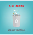world no tobacco day concept vector image vector image